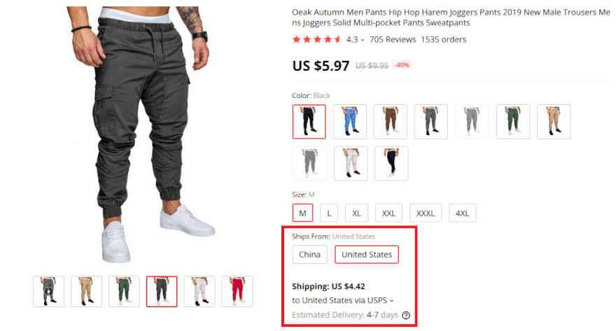 SaleSource AliExpress dropshipping products with USA shipping narrowed down