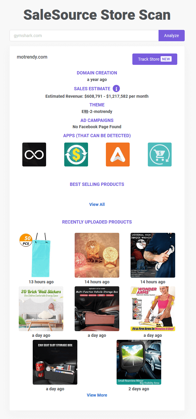 top shopify dropshipping stores: Motrendy
