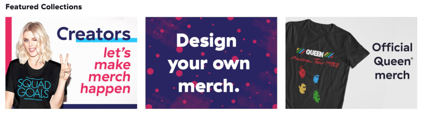 teespring featured collections