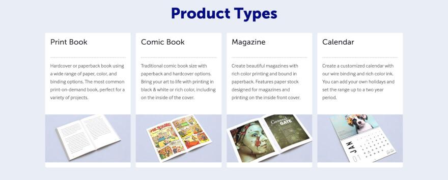 lulu xpress product types