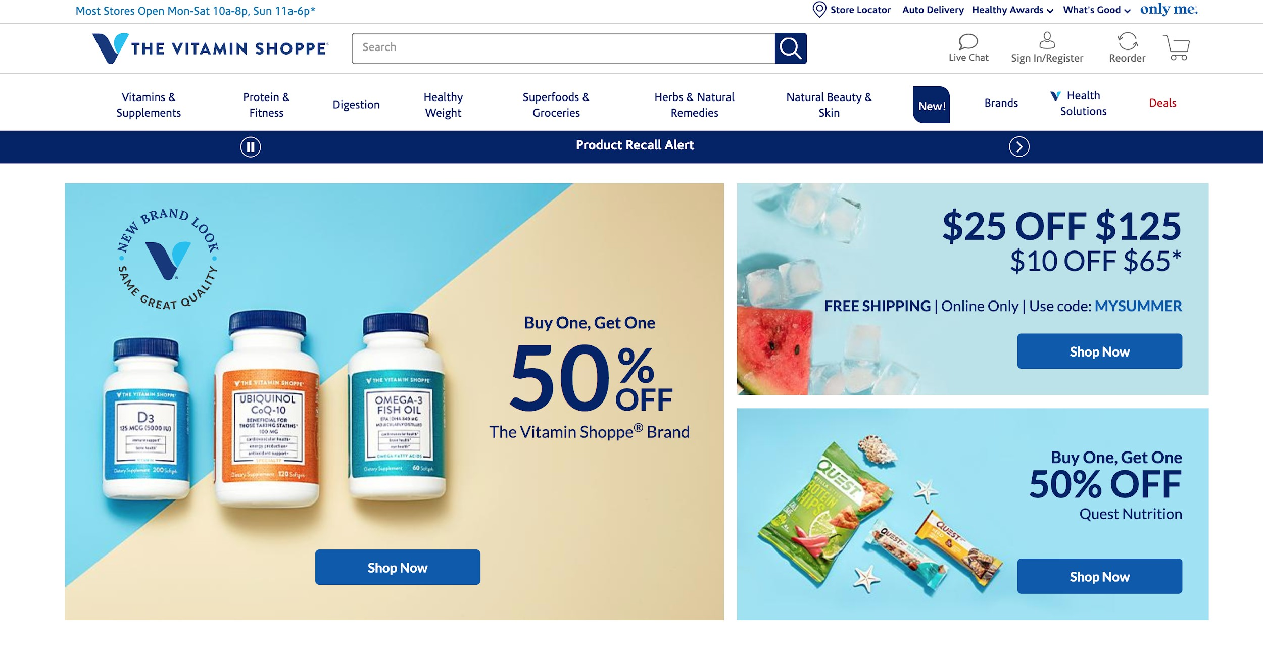 the vitamin shoppe best e commerce site