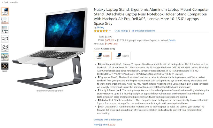 laptop stand amazon product