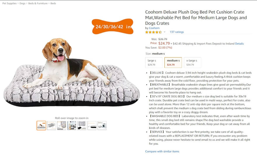 pet bed amazon best seller