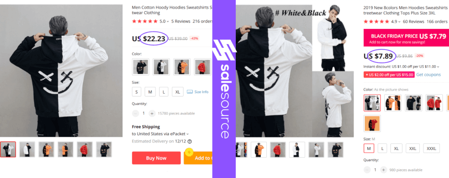 Overpriced dropshipping supplier