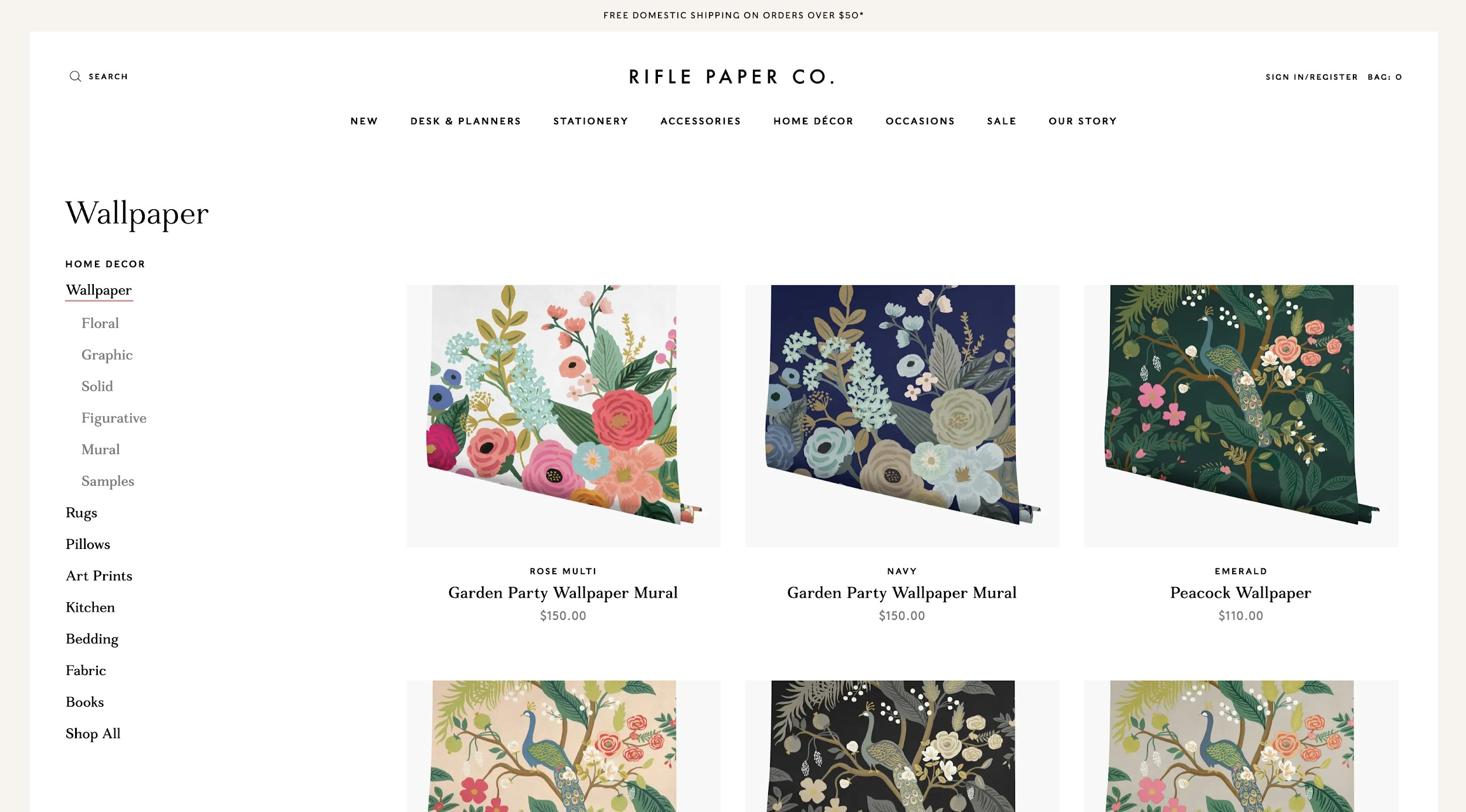 best ecommerce sites rifle paper co