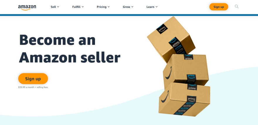 amazon website - become an amazon seller