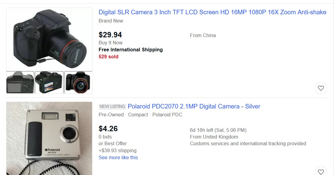 digital camera ebay best seller