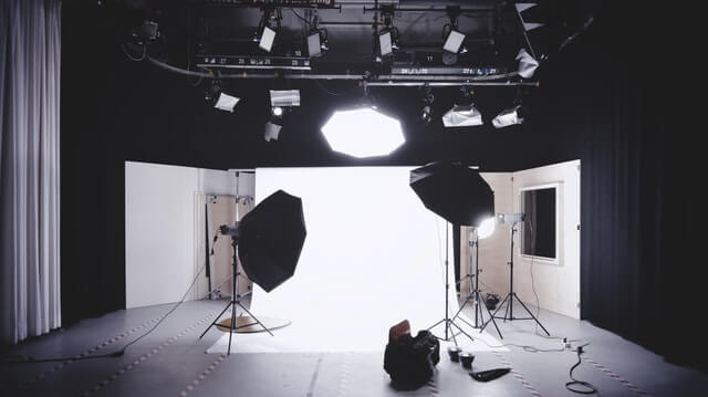 Product video stage lights