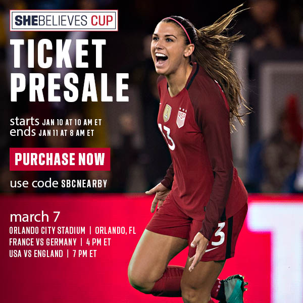 Your Exclusive General Presale for the 2018 SheBelieves Cup