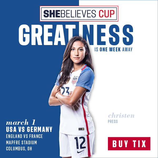 One Week Away: 2018 SheBelieves Cup in Columbus, Ohio