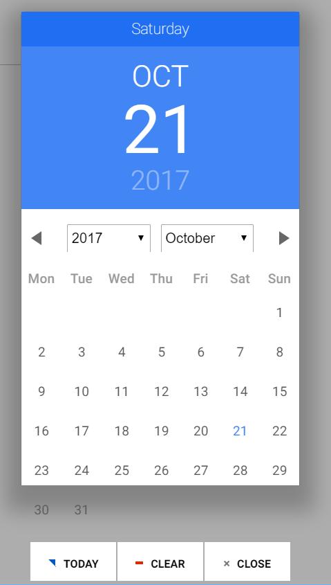 Angular date picker background too short - Material Design