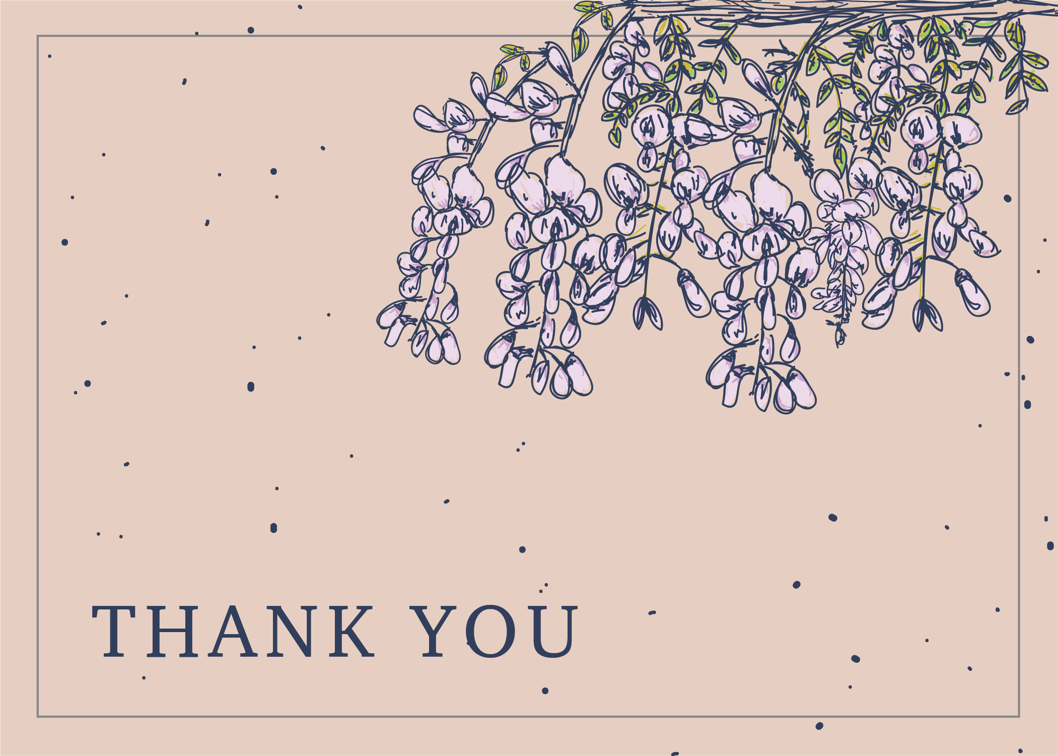 Floral Thank You back