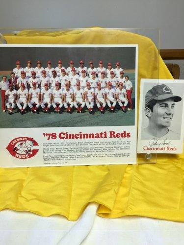 '70 & '78 CINCINNATI REDS TEAM 8X10 PHOTO with Johnny Bench photo