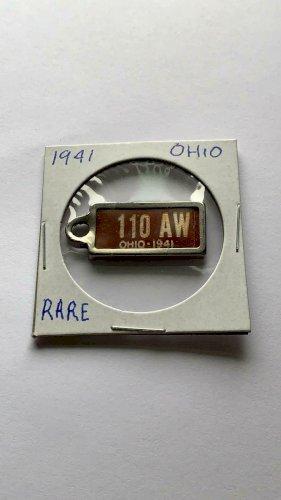 Vintage 1941 OHIO DAV Tag (110 AW)