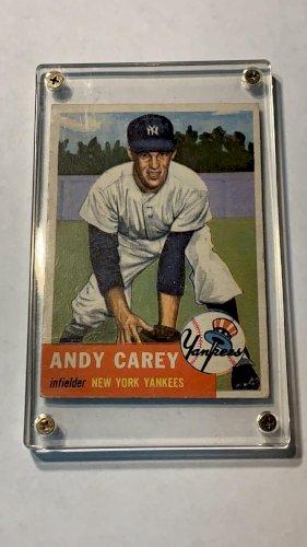 1953 Topps Andrew Carey New York Yankees #188 Baseball Card