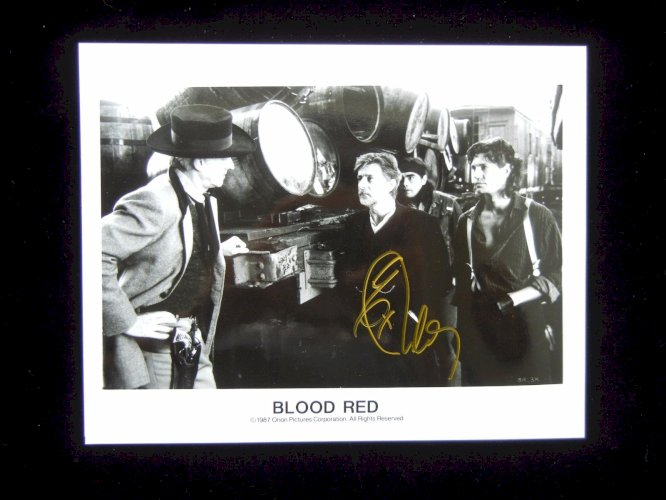 """Eric Roberts Autograph - Hand Signed 8x10 Scene from """"Blood Red"""" - Authentic"""