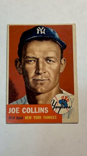 1953 Topps Joe Collins #9 New York Yankees