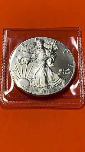 2018 1 oz American Silver Eagle $1