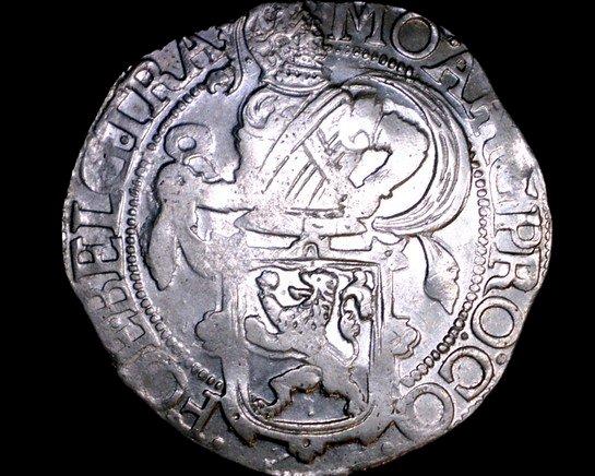 1643 Netherlands Utrecht 1 Lion Daalder World Silver Coin