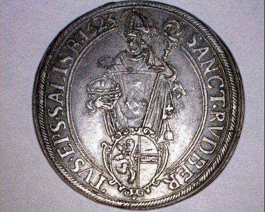 1623 Austrian States Salzburg 1 Thaler World Silver Coin