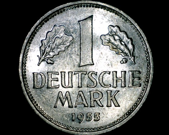1955 G German 1 Mark World Coin -West Germany