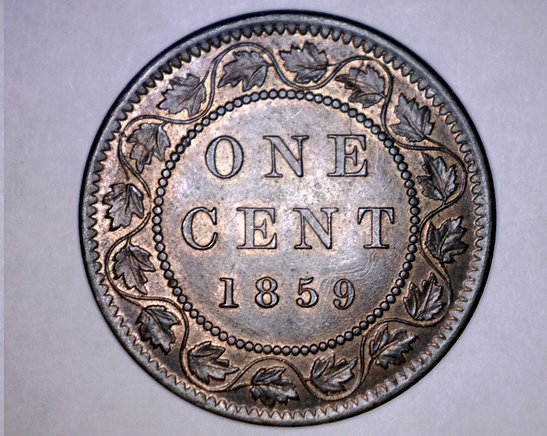 1859 Canada 1 Large Cent World Coin - Canada