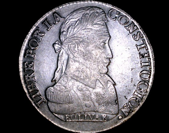 1837-PTS LM Bolivian 8 Soles World Silver Coin - Bolivia