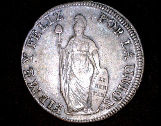 1833LIMAE-MM Peruvian 8 Reales World Silver Coin - Peru