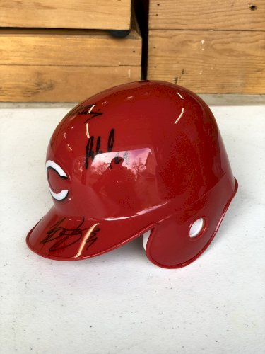 Cincinnati Reds signed mini helmet--5 signatures