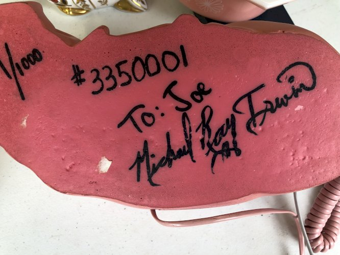 Vintage Pink Pig Dial Phone 1/1000 Signed by Michael Ray Irwin