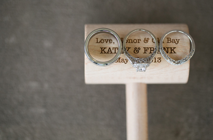 Photo of a Engraved Crab Mallet with Rings