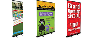 Pull up and retractable banners