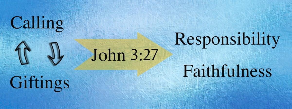 Gifting and Responsibilities - John 3:27