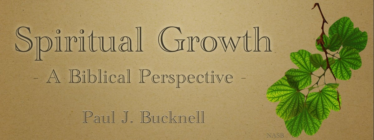 Spiritual Growth: A Biblical Perspective