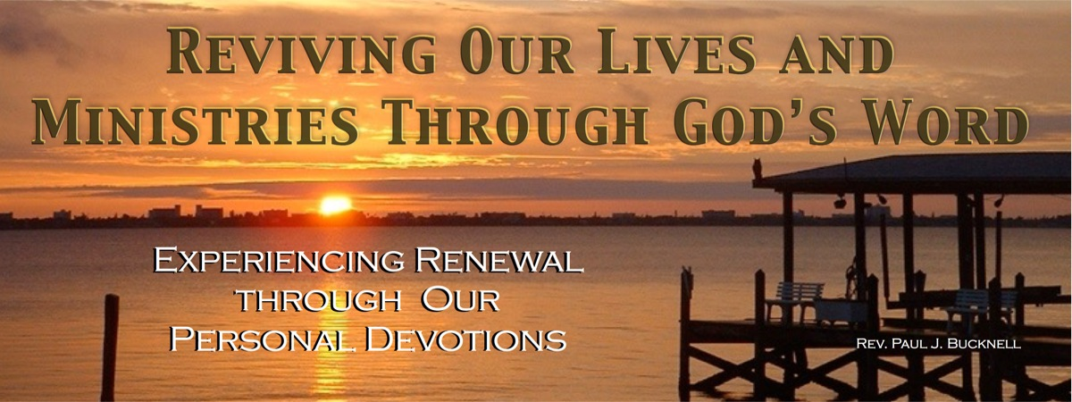Experiencing Renewal in our Devotions