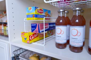 Organized-Living-white-wrap-organizer-on-open-pantry-shelving