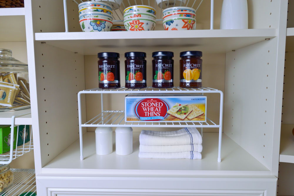 Organized-Living-white-double-shelf-in-pantry