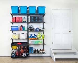 freedomRail-garage-ventilated-shelving-for-bins-and-baskets-for-sports-equipment