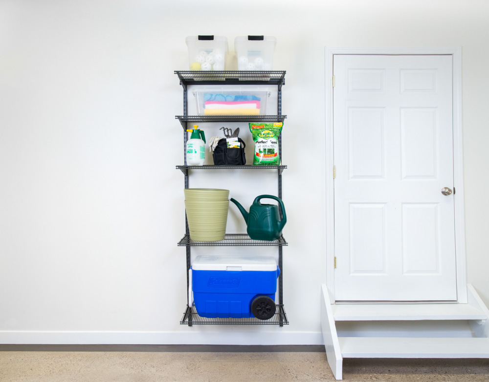 freedomRail-garage-adjustable-ventilated-shelving-unit
