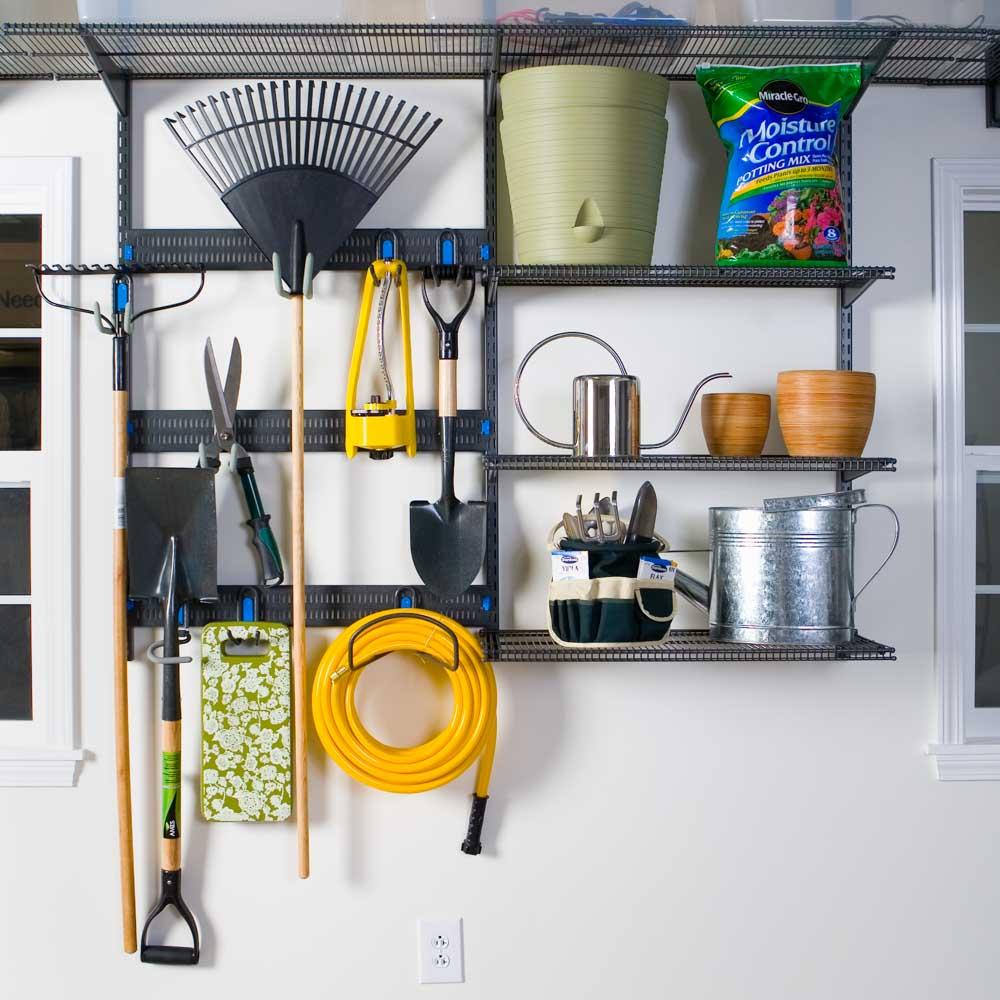 freedomRail-garage-gardening-storage-unit-with-hoooks-and-ventilated-shelving