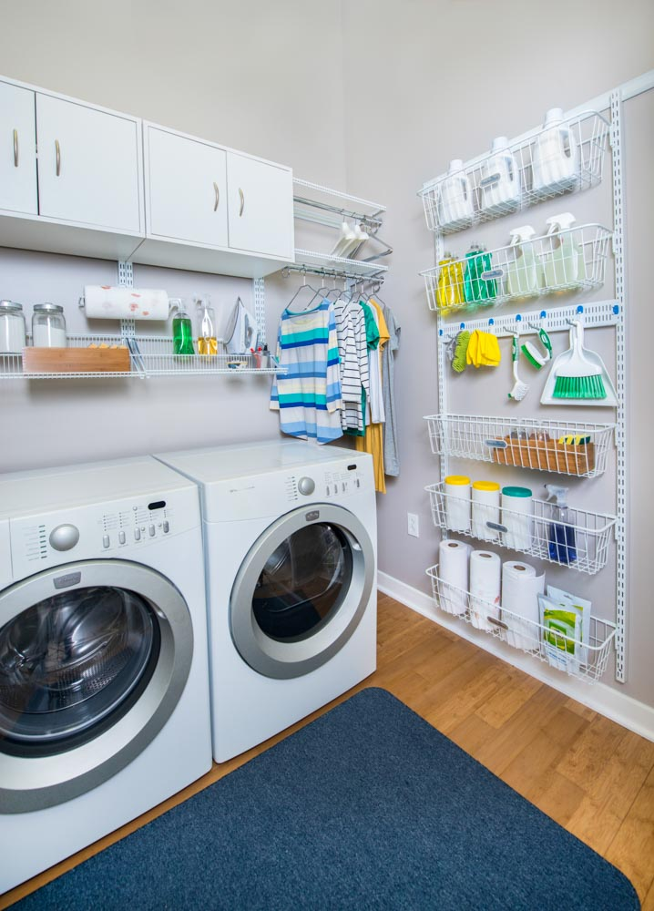 White-freedomRail-laundry-room-with-baskets-and-hooks