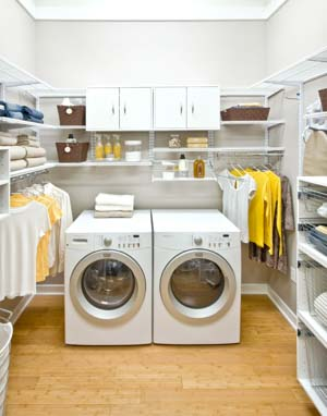 White-freedomRail-laundry-room-with-hanging-rods