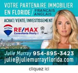 Publicite pour Julie Murray - agent immobilier en Floride