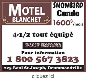 Publicite pour Motel Blanchet