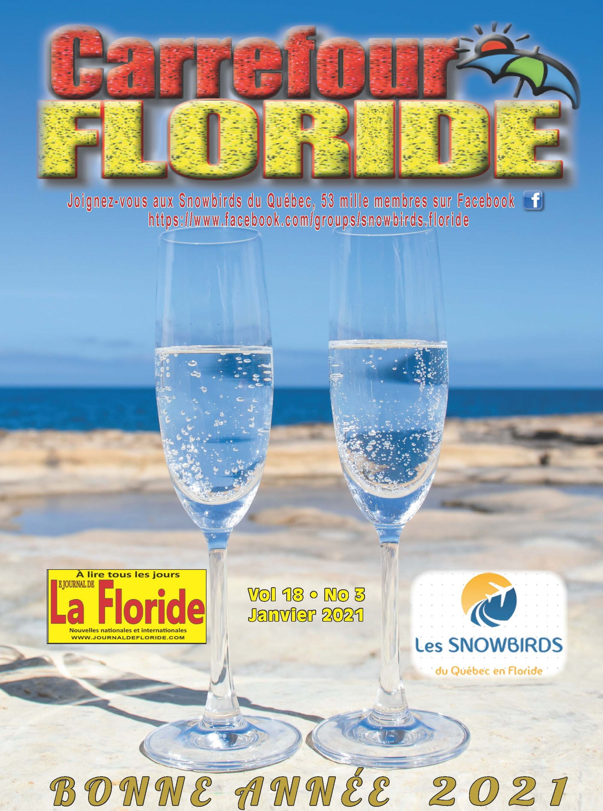 Le magazine Carrefour Floride de janvier est enfin arrivé avec 72 pages d'informations pour vous