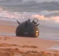 Une énorme mine explosive s'est échouée sur une plage de la Floride dans Broward