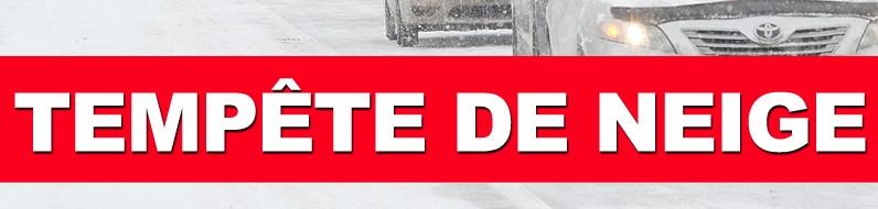 Une tempête de neige se dirige vers le Québec allant jusqu'à 30 cm de flocons printaniers