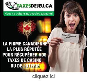 publicite pour Taxes de Jeu.ca