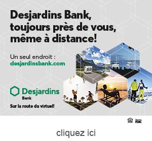 Publicite pour la Desjardins Bank