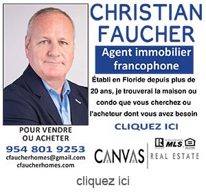 Publicite pour Christian Faucher